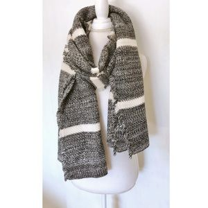 banana republic chunky rib knit blanket scarf